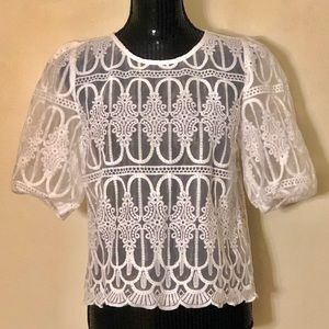 A.Calin by Flying Tomato lace Victorian blouse